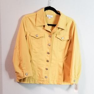 Dress Barn Yellow Jacket NWT